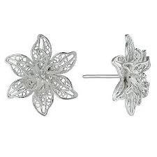 flower stud earrings sterling silver flower earrings unity ceremony