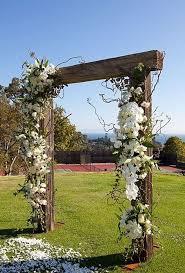 wedding arch ladder a garden wedding at california s montecito country club wooden