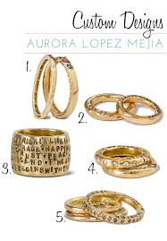 personalized gold rings personalized gold wedding rings and jewelry merci new york