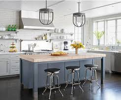 kitchens with different colored islands updating white kitchens atticmag