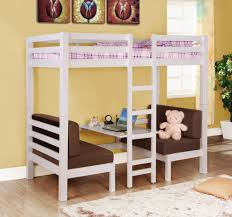 Children Beds Contemporary Loft Children Bed With Nice Couches Using Brown