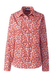 womens no iron blouses s orange shirts and blouses lands end