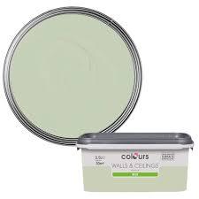 B And Q Laminate Flooring Oak Effect Colours Standard Guava Green Silk Emulsion Paint 2 5l Green Silk