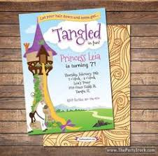 tangled printable birthday party invitation plus free blank