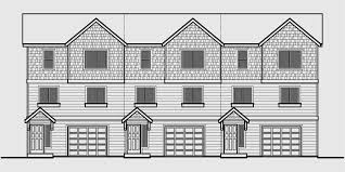 house plans for narrow lots with front garage triplex plans small lot house plans row house plans t 413