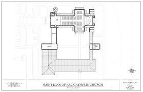 catholic church floor plan designs church with classrooms and chapel st joan of arc catholic church