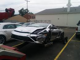 crashed lamborghini image chrome wrapped lamborghini gallardo crashed in east lansing