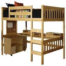 Beech Bunk Beds Loft Size Study Loft Beech With Media Cart