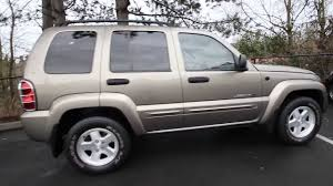 jeep liberty limited 2004 2003 jeep liberty limited 3w713049 gold redmond seattle