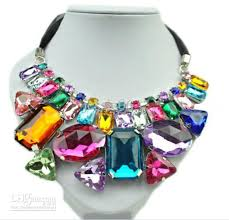 colored crystal necklace pendants images 2018 handmade colorful beaded geometric crystal stone pendant jpg