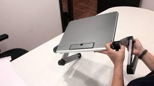Foldable Laptop Desk by How To Adjust Valore Foldable Multi Angle Laptop Desk Ac912