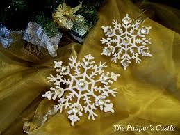 the pauper u0027s castle salt dough snowflake ornaments