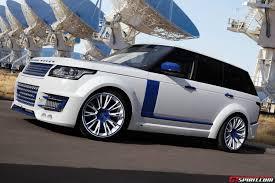 land rover svr white white lumma design range rover vogue clr r with blue accents