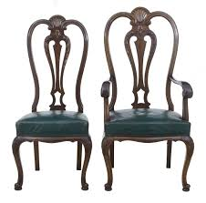 Queen Anne Dining Room Sets Set Of 6 2 Early 20th Century Queen Anne Mahogany Dining Chairs C