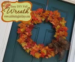 easy thanksgiving wreaths easy diy fall wreath celebrating holidays