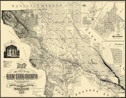 California San Jose Map by Old County Map San Luis Obispo California 1874