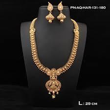 necklace sets design images Koorgi design laxmi motif temple designer necklace set ds53 1 yr jpg