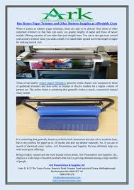buy rotary paper trimmer and other business supplies at affordable