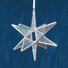 glass moravian star ornament north carolina