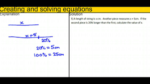 creating and solving equations