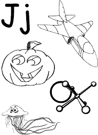 alphabet coloring page words of j alphabet coloring pages of