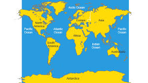 map with oceans bitesize ks3 geography atlas skills revision 2