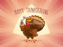 happy thanksgiving day celebration with illustration of a turkey