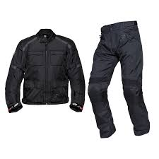 lightweight bike jacket black venture waterproof motorcycle jacket with free trouser 2