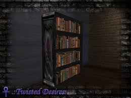 Purple Bookcase Second Life Marketplace Td Purple Gothic Bookcase
