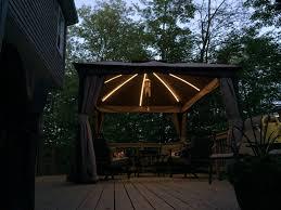 Backyard Canopy Ideas by Gazebo Canopy Lights Style Design Home Ideas