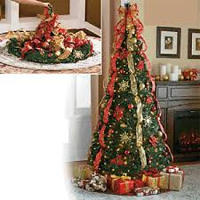 6 ft pre lit pull up decorated collapsible tree 400