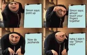 Know Your Memes - simon says point up despicable me internet meme know your meme