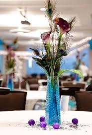 Feather And Flower Centerpieces by Wedding Centrepieces Peacock Feathers Google Search Wedding