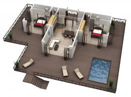 2 Bhk Home Design Plans by Modern Apartments And Houses 3d Floor Plans Different Models