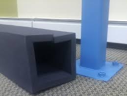 child safety foam basement pole bumper fireplace cushion