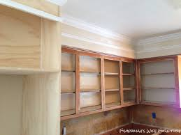 how to add crown molding to kitchen cabinets fisherman u0027s wife furniture covering fur down the space above