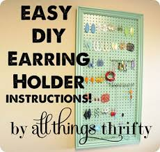 earring holder for studs diy earring holder 20 gift idea all things thrifty