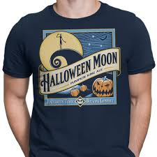 halloween moon long sleeve t shirt unisex once upon a tee