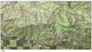 Sierra High Route Map by San Gorgonio Onthetrail Org On The Trail Guide To The Outdoors