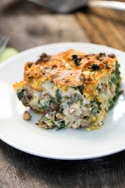 italian sausage gouda and spinach strata keviniscooking com