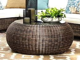 round rattan side table rattan coffee tables round rattan coffee table with glass top twip me