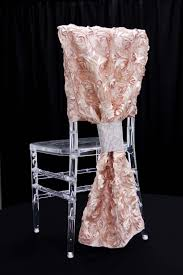 rosette chair covers satin rosette chiavari chair back cover