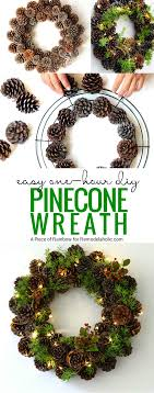 how to make wreaths remodelaholic make an easy diy pinecone wreath in one hour