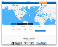 Real Estate Map 40 Best Real Estate Wordpress Themes For Agencies Realtors And