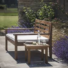 garden daybed or wide bench in reclaimed teak with seat base