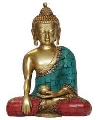 statue with brass shakyamuni buddha statue with colorful detailing buddha