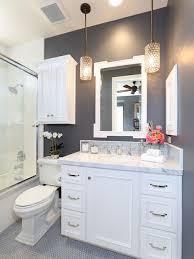 Bathroom With White Cabinets - light grey bathroom houzz