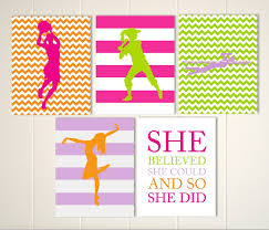 girls sports art basketball softball dance swimmer