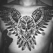 50 tribal owl tattoo designs for men masculine ink ideas