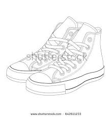 hand drawn sketch sport shoes sneakers stock vector 534750652